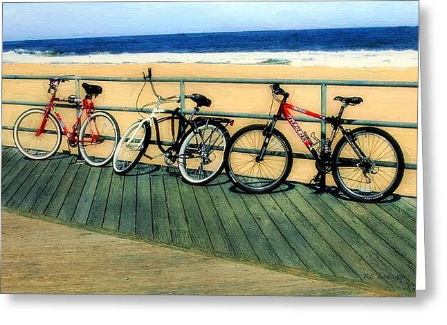 Boardwalk Bikes Greeting Card by RC deWinter