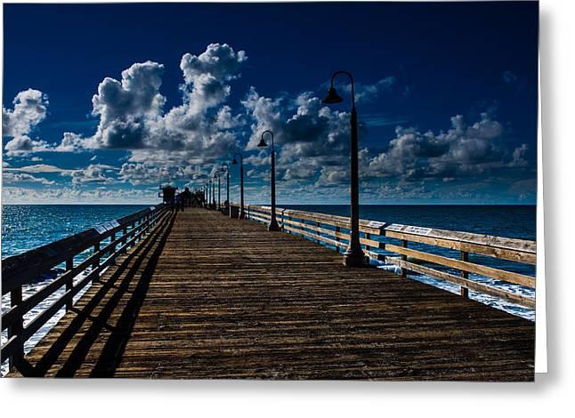 Boardwalk Blues  Greeting Card by Cecil K Brissette