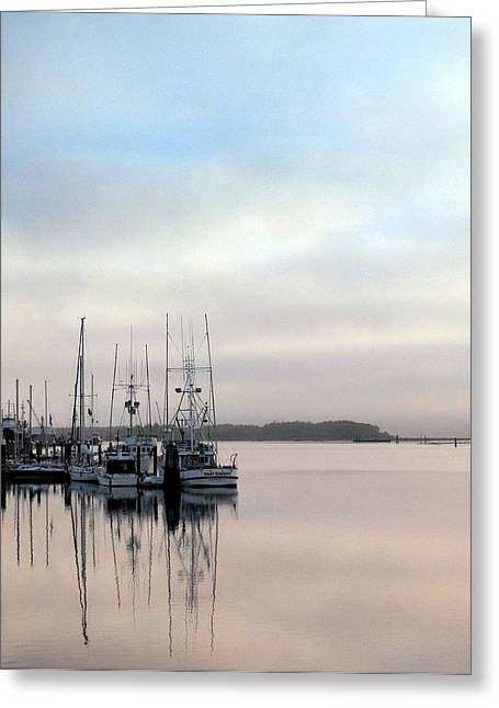 Greeting Card featuring the photograph Boardwalk Boats by Suzy Piatt