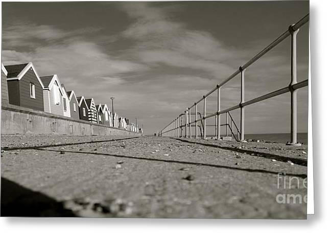 Boardwalk Greeting Card by David Warrington