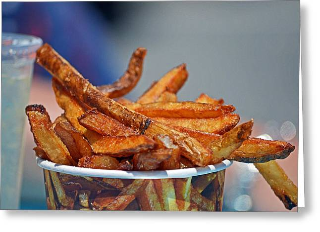 French Fries On The Boards Greeting Card
