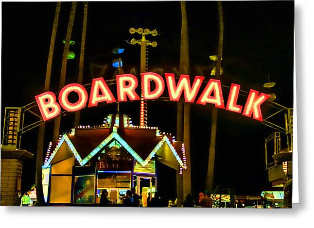 Boardwalk Greeting Card by Digital Kulprits