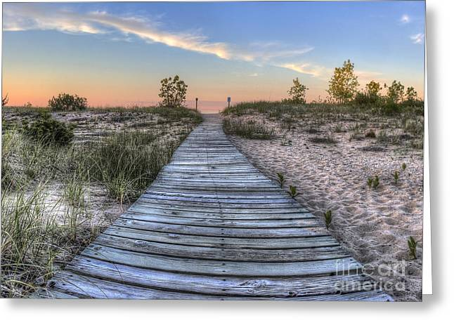 Boardwalk To The Beach Greeting Card by Twenty Two North Photography