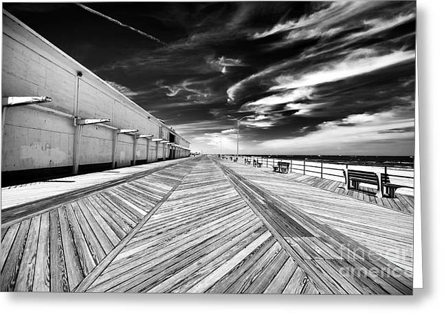 Boardwalk Walk Greeting Card by John Rizzuto