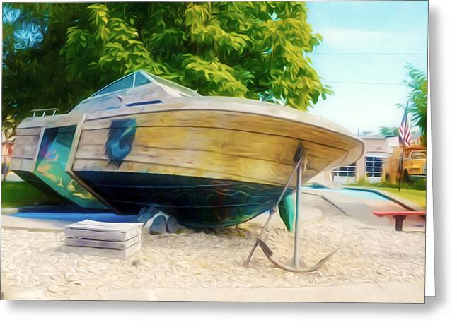 Boat 2 Greeting Card by Lanjee Chee