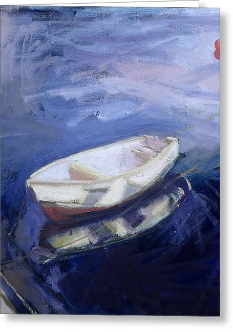 Boat And Buoy Greeting Card by Sue Jamieson