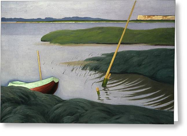 Boat At Berville Greeting Card