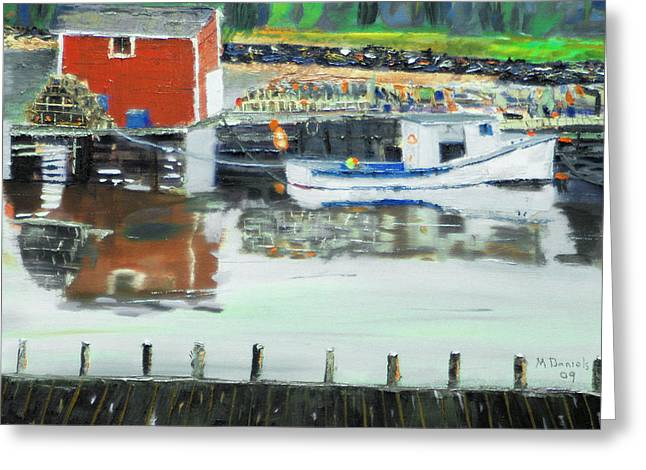 Boat At Louisburg Ns Greeting Card by Michael Daniels