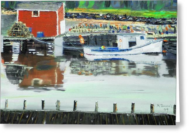 Boat At Louisburg Ns Greeting Card
