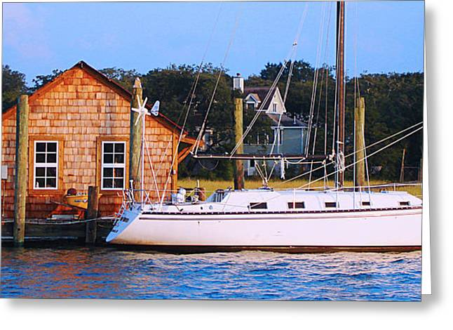Boat At Shem Creek By Jan Marvin Greeting Card