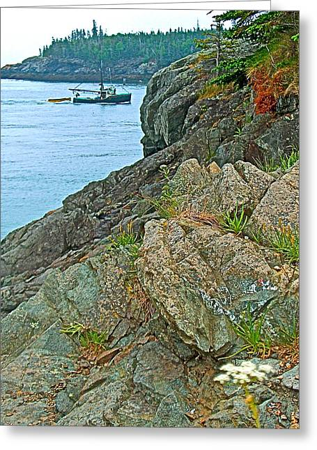 Boat By East Quoddy Bay On Campobello Island-nb Greeting Card