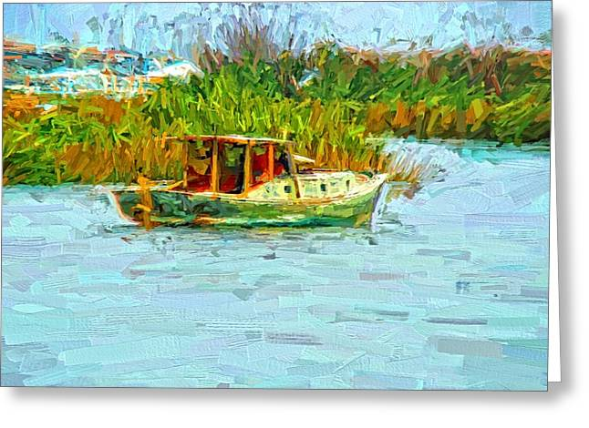 Boat Colors Greeting Card by Alice Gipson