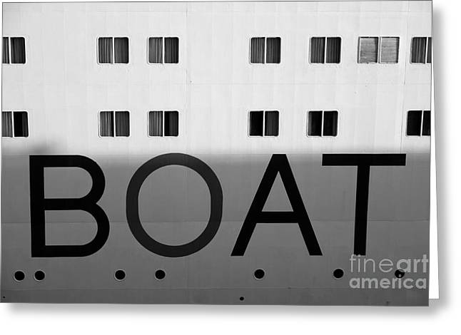 Boat Greeting Card by Dean Harte