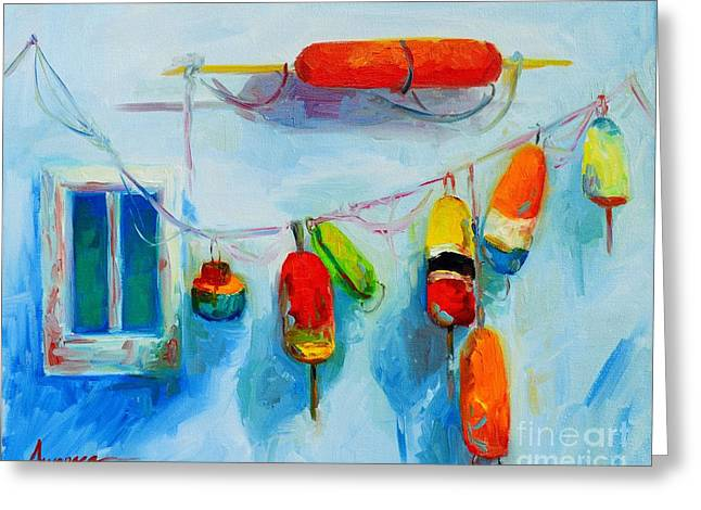 Colorful Buoys 2 Greeting Card