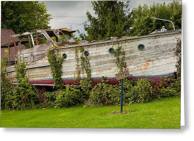 Boat For Sale Greeting Card