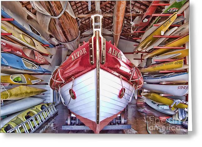 Boat Frenzy Greeting Card by Pauline Flesseman