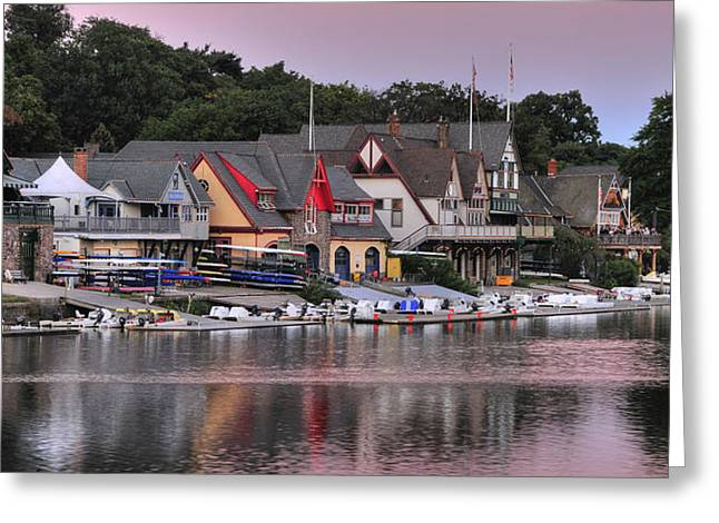Boat House Row 2 Greeting Card by Dan Myers