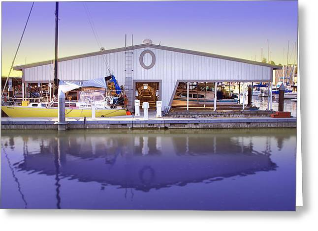 Greeting Card featuring the photograph Boat House by Sonya Lang