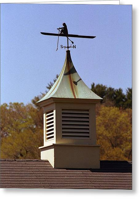 Boat House Weathervane Greeting Card