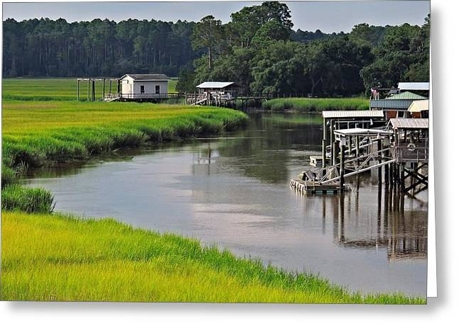 Boat House Welcome Greeting Card