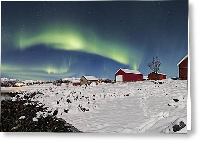 Boat Houses Greeting Card by Frank Olsen