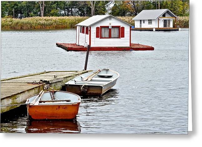 Boat Houses Greeting Card