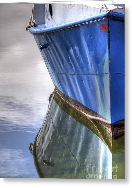 Boat In Leland Greeting Card by Twenty Two North Photography