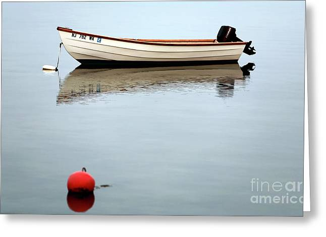 Boat In The Bay Greeting Card