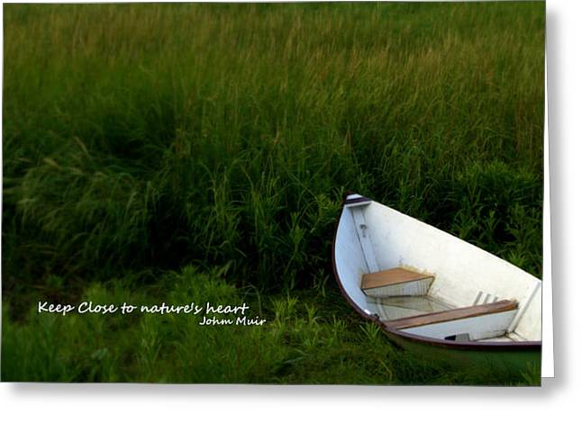 Greeting Card featuring the photograph Boat In The Marsh by Caroline Stella