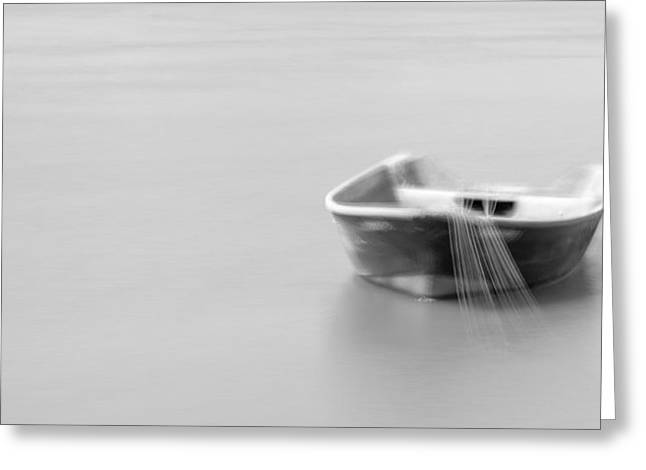Boat In Water Greeting Card