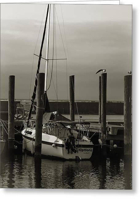 Boat Greeting Card by Jennifer Burley