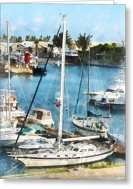Boat - King's Wharf Bermuda Greeting Card