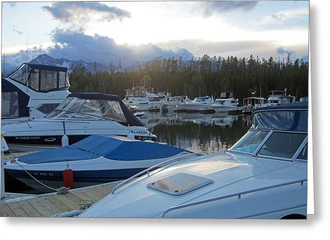 Boat Night Greeting Card by Mike Podhorzer