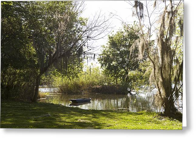 Boat On Lake Alice Greeting Card by William Ragan