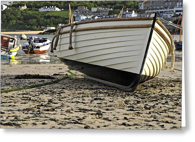 Boat On The Beach - St Ives Harbour Greeting Card