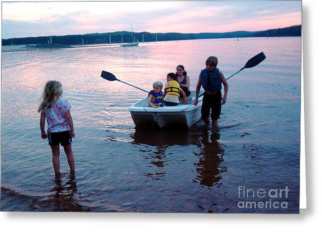 Boat Play Greeting Card by Gretchen Allen