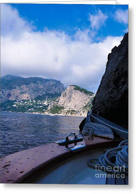 Greeting Card featuring the photograph Boat Ride To Capri by Mike Ste Marie