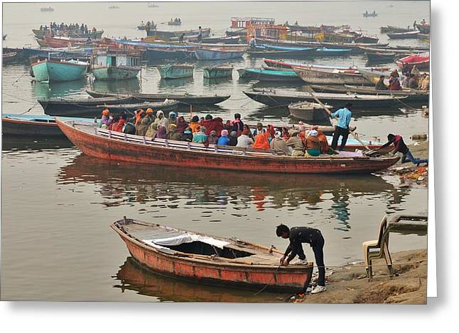 The Journey - Varanasi India Greeting Card