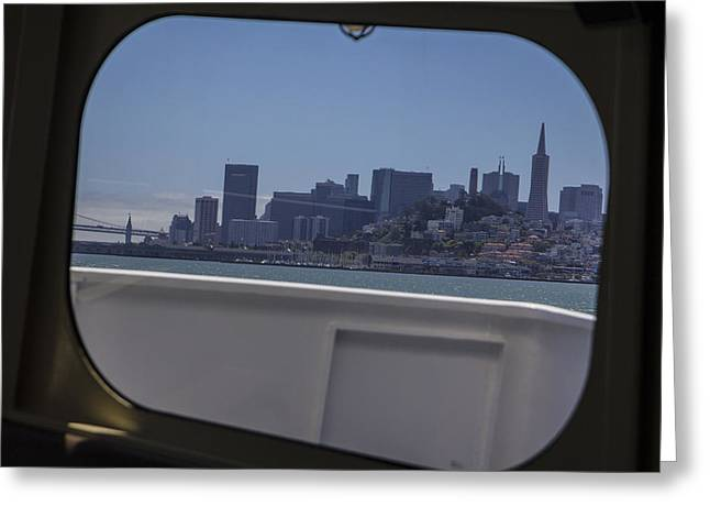 Boat To San Fransico  Greeting Card