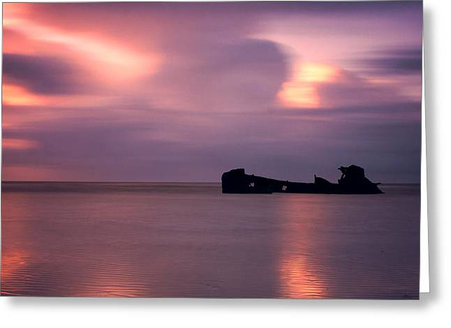 Boat Wreck Greeting Card by Mark Leader