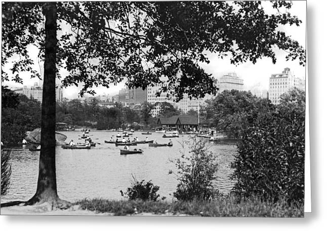 Boaters In Central Park Greeting Card