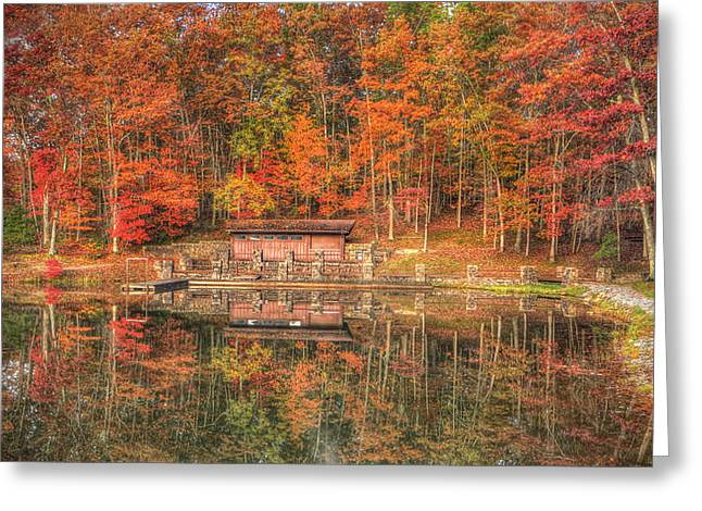 Boathouse At Boley Lake Greeting Card