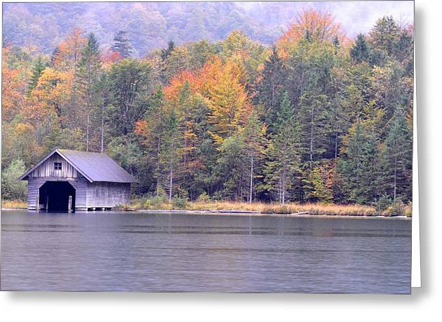 Boathouse On The Koenigsee Greeting Card
