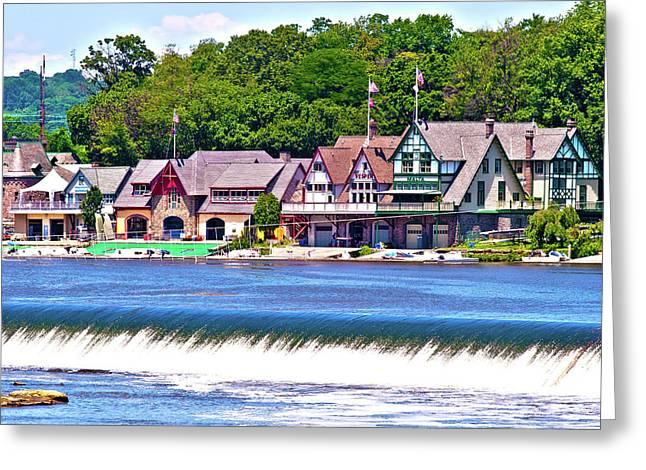 Boathouse Row - Hdr Greeting Card