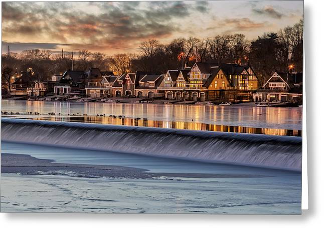 Boathouse Row Philadelphia Pa Greeting Card by Susan Candelario