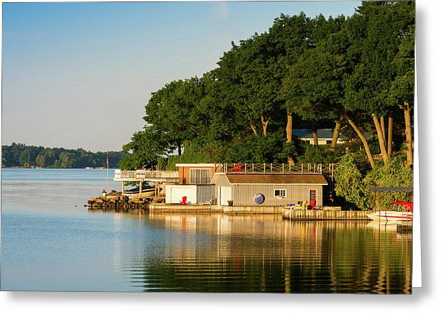 Boathouses On Saint Lawrence River Greeting Card