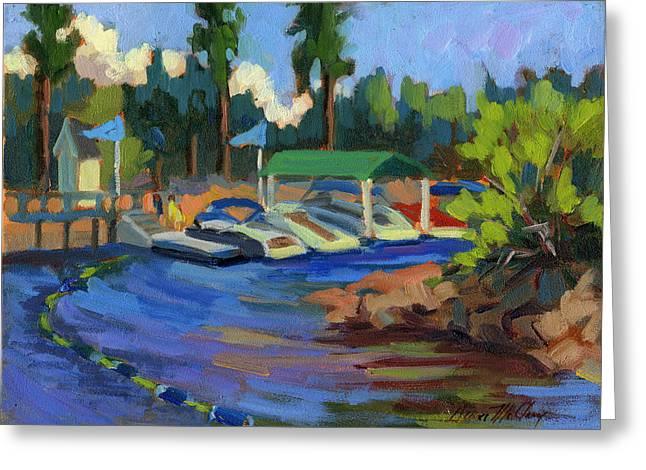 Boating At Lake Arrowhead Greeting Card