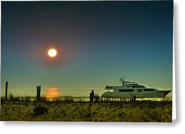 Boating At Sunrise Greeting Card by Bill Cannon