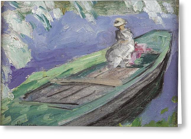 Boating Greeting Card by Henri Lebasque