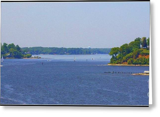 Boating On The Severn River Greeting Card by Patti Whitten